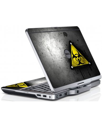 Black Caution Dell XT3 Laptop Skin
