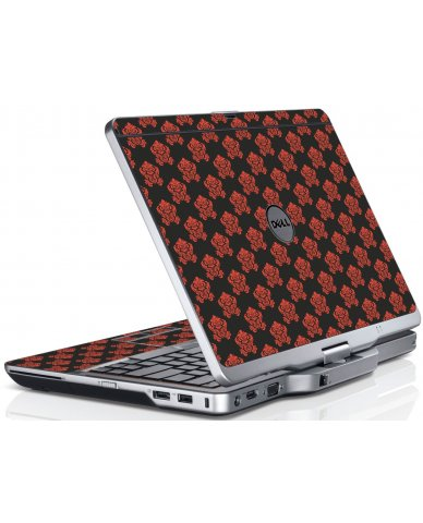 Black Flower Burst Dell XT3 Laptop Skin