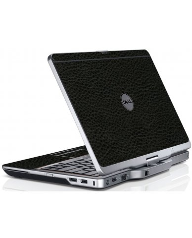 Black Leather Dell XT3 Laptop Skin