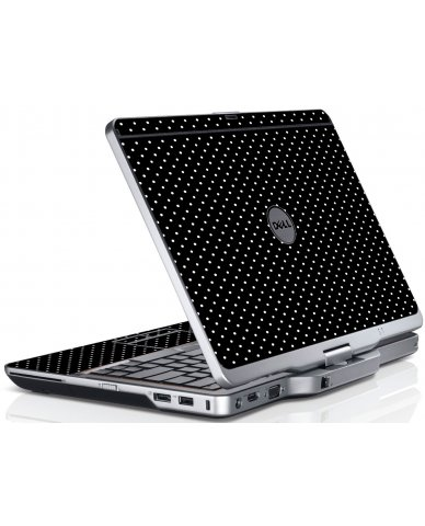 Black Polka Dots Dell XT3 Laptop Skin