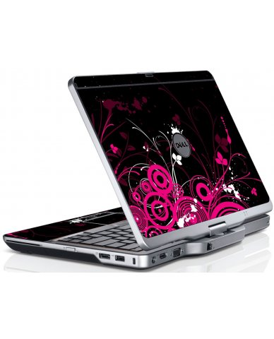 Black Pink Butterfly Dell XT3 Laptop Skin