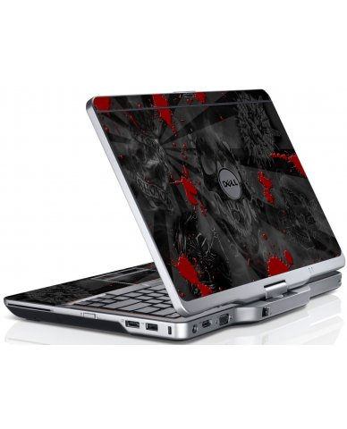 Black Skulls Red Dell XT3 Laptop Skin