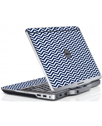 Blue Wavy Chevron Dell XT3 Laptop Skin