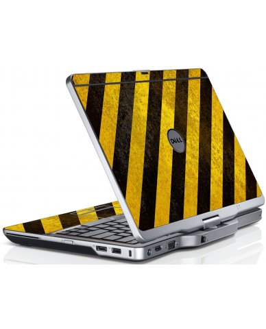 Caution Stripes Dell XT3 Laptop Skin
