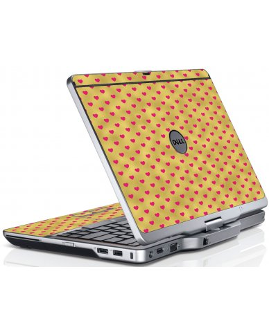 Gold Pink Hearts Dell XT3 Laptop Skin