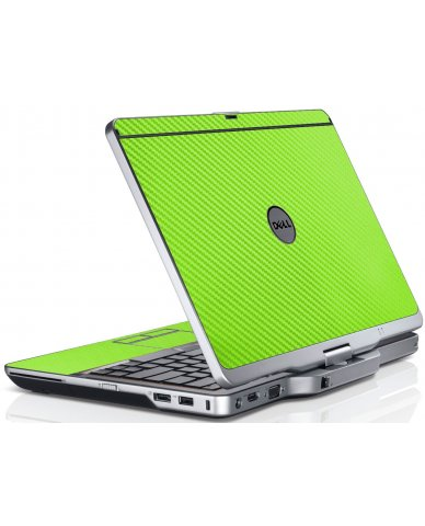 Green Carbon Fiber Dell XT3 Laptop Skin