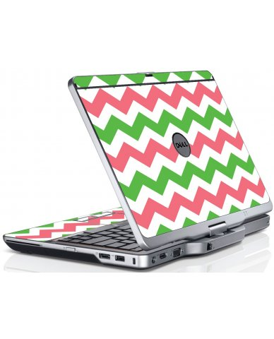 Green Pink Chevron Dell XT3 Laptop Skin