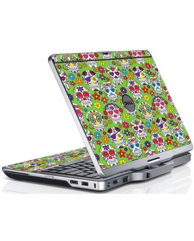 Green Sugar Skulls Dell XT3 Laptop Skin