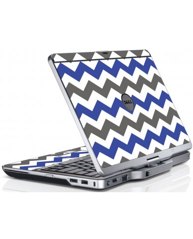 Grey Blue Chevron Dell XT3 Laptop Skin