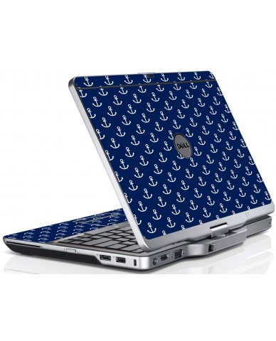 Navy White Anchors Dell XT3 Laptop Skin