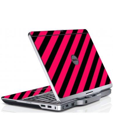 Pink Black Stripes Dell XT3 Laptop Skin