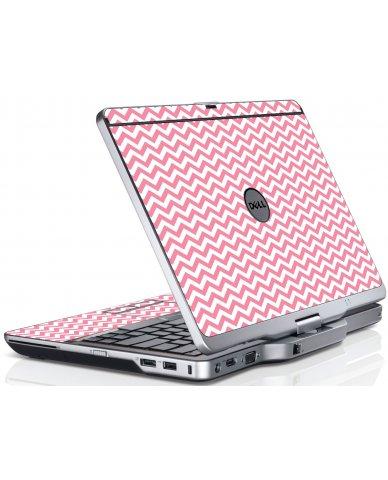 Pink Chevron Waves Dell XT3 Laptop Skin