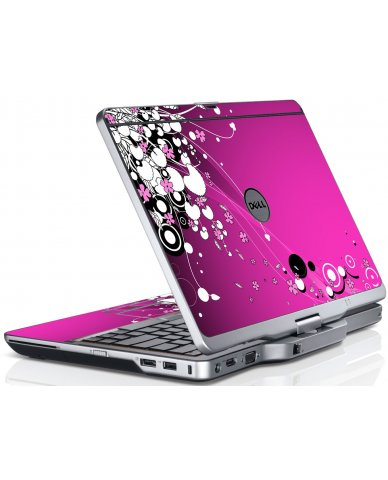 Pink Flowers Dell XT3 Laptop Skin