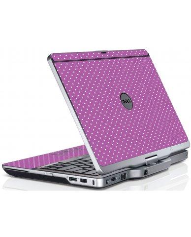 Purple Polka Dot Dell XT3 Laptop Skin