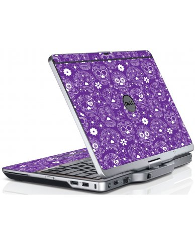 Purple Sugar Skulls Dell XT3 Laptop Skin