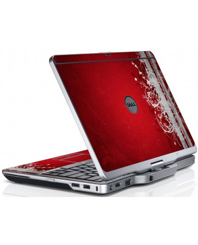 Red Grunge Dell XT3 Laptop Skin