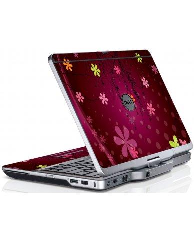 Retro Pink Flowers Dell XT3 Laptop Skin