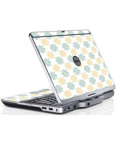 Yellow Green Flowers Dell XT3 Laptop Skin