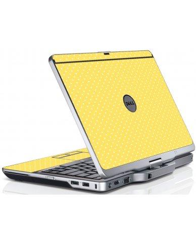 Yellow Polka Dot Dell XT3 Laptop Skin