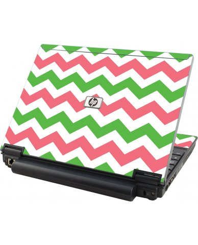 Green Pink Chevron HP Compaq 2510P Laptop Skin