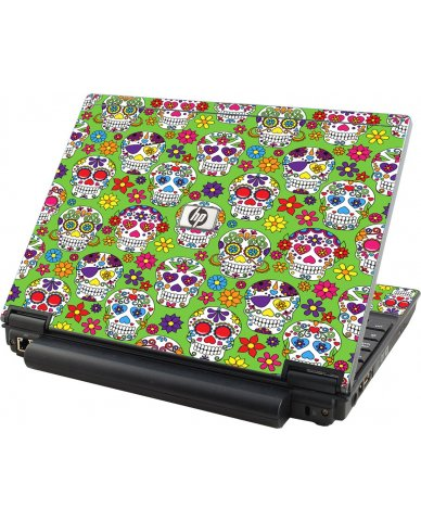 Green Sugar Skulls HP Elitebook 2530P Laptop Skin