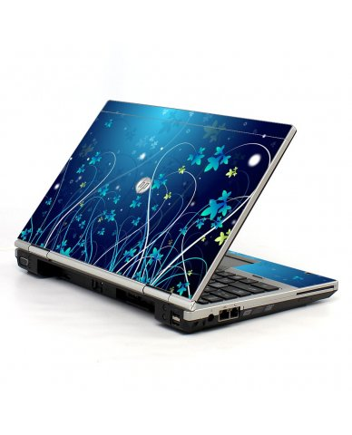 Blue Flowers 2570P Laptop Skin