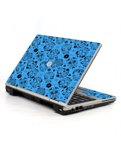 Crazy Blue Sugar Skulls 2570P Laptop Skin