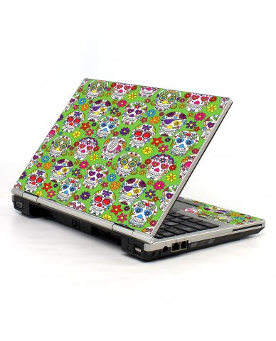 Green Sugar Skulls 2570P Laptop Skin