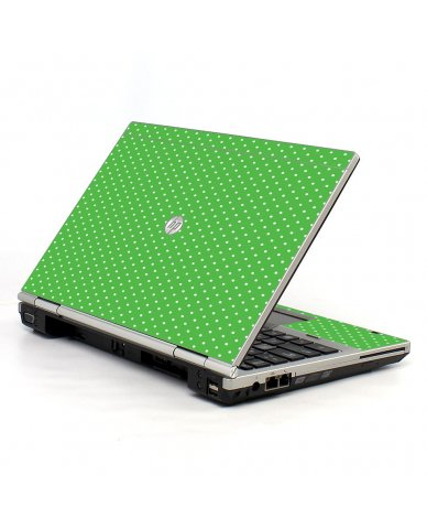 Kelly Green Polka 2570P Laptop Skin