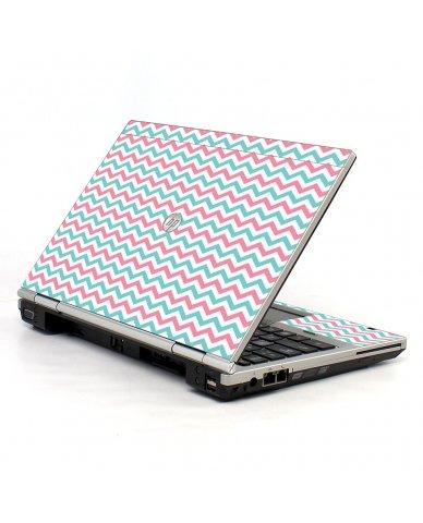 Pink Teal Chevron Waves 2570P Laptop Skin