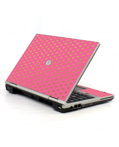 Pink With Gold Hearts 2570P Laptop Skin