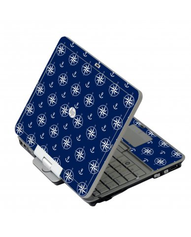 Nautical Anchors HP EliteBook 2730P Laptop Skin