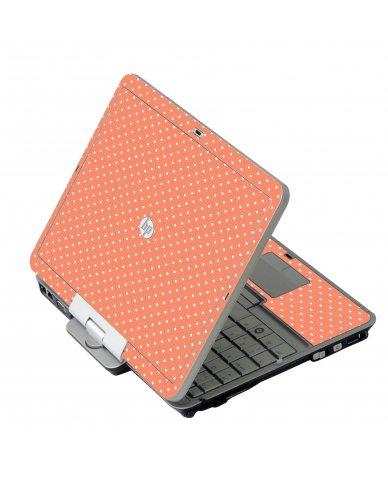 Coral Polka Dots 2740P Laptop Skin