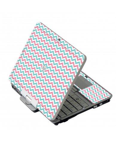 Pink Teal Chevron Waves 2740P Laptop Skin