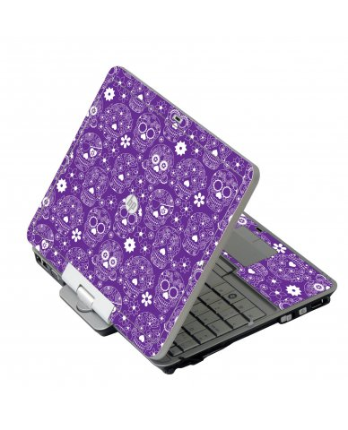 Purple Sugar Skulls 2740P Laptop Skin