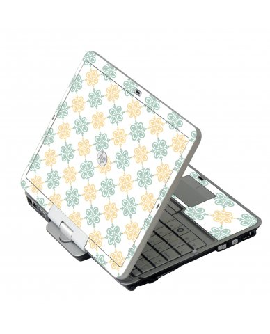 Yellow Green Flowers 2740P Laptop Skin