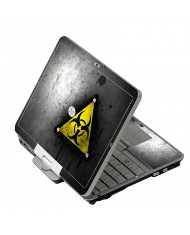 Black Caution HP 2760P Laptop Skin
