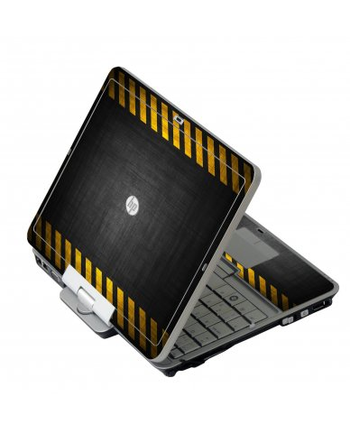 Black Caution Border HP 2760P Laptop Skin