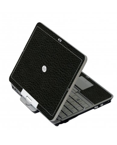 Black Leather HP 2760P Laptop Skin
