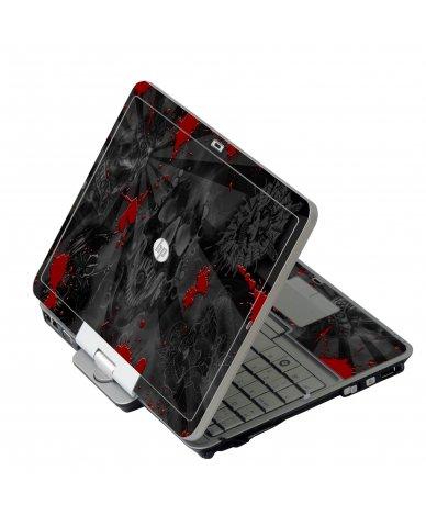 Black Skulls Red HP 2760P Laptop Skin