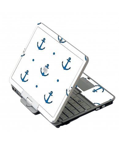 Blue Anchors HP 2760P Laptop Skin