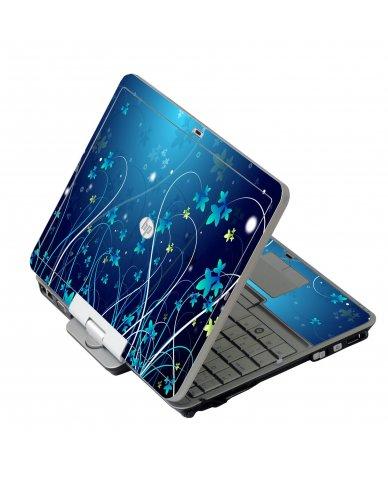 Blue Flowers HP 2760P Laptop Skin