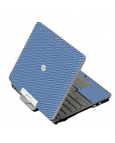 Blue On Blue Chevron HP 2760P Laptop Skin