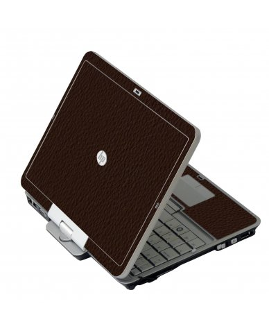 Brown Leather HP 2760P Laptop Skin