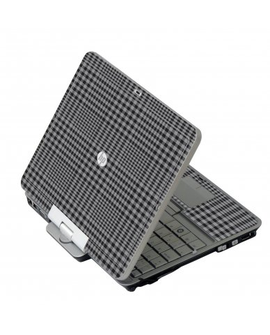 Darkest Grey Plaid 2760P Laptop Skin