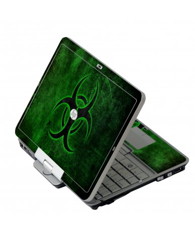 Green Biohazard HP 2760P Laptop Skin