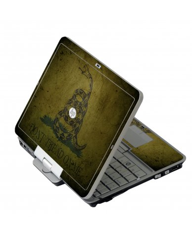 Green Don't Tread Flag HP 2760P Laptop Skin