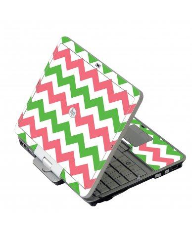 Green Pink Chevron HP 2760P Laptop Skin