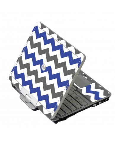 Grey Blue Chevron HP 2760P Laptop Skin