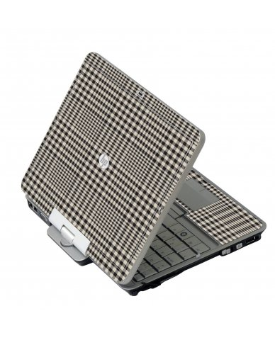 Grey Plaid HP 2760P Laptop Skin
